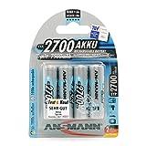 ANSMANN Mignon AA Akku Typ 2700mAh NiMH hochkapazitiv Profi Digital Kamera-Akkubatterie (4er Pack)