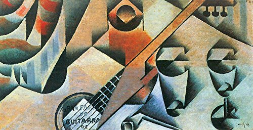 Das Museum Outlet–Banjo (Gitarre) und Gläser von Juan Gris–Poster Print Online kaufen (152,4x 203,2cm)