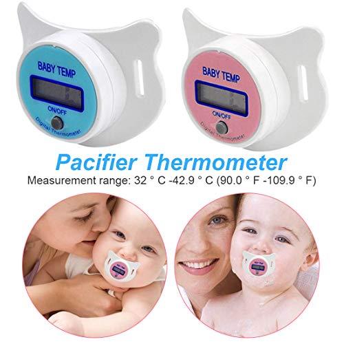 Schnullerthermometer orales Temperaturüberwachungswerkzeug Baby Kind Schnuller elektronisches Fieberthermometer