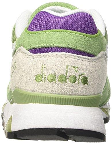 Diadora V7000 Nyl Ii, Sneaker a Collo Basso Unisex – Adulto Verde (Verde Bosco/Viola Amaranto)