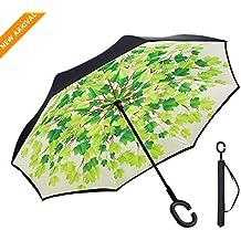 Paraguas Invertido Sol y la lluvia Paraguas,Parasol de Protección Contra el Viento Ultravioleta de