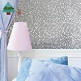 Lifetree Sans colle statique Film décoratif confidentialité de la fenêtre 3D pour salle de bains / cuisine / salon / école, 90cm x 200cm (3pi X 6,5 pi)