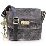Catwalk Collection Handbags - Vintage Grobem Leder - Klien Umhängetasche Messenger/Schultertasche -...