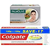 Colgate-Palmolive Skin Therapy Turmeric Soap - 75 G With Colgate Total Advanced Health Toothpaste - 240 G