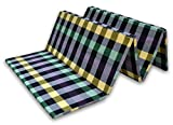 Sleepinns Country Home Five Fold Single Bed Premium Epe Foam Slim Foldable Traveling Mattresses 72' X 35' X 1', (Checkered)