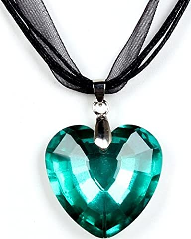 Calonice Amorino Ladies' Emerald Green Heart Love Statement Piece Necklace