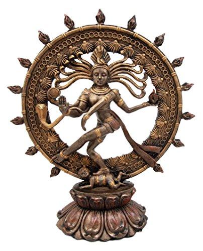 Atlantic Collectibles Dekofigur Hindu Shiva Nataraja Herr des Tanzes, kosmischer Tänzerin, Gott, 22,9 cm H