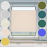 Victoria M. Plissee Klemmfix ohne Bohren EasyFix, Größe: 70 x 100 cm, Farbe: beige