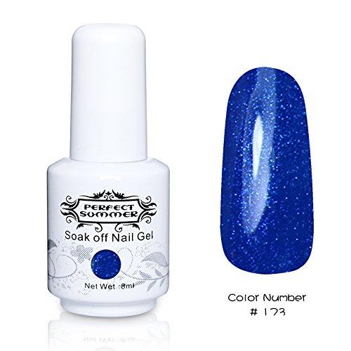 Perfect Summer 1pcs 8ml Vernis à Ongles Semi-Permanent UV LED Soak Off Gel Nail Polish #173