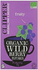 Clipper Organic Wild Berry 20 Tea Bags (Pack of 6)