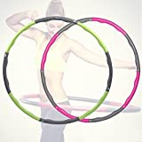 Hula Hoop Hooping Reifen 1,1kg Fitness Gymnastik Turnreifen Bauchtrainer (Grün u. Grau)