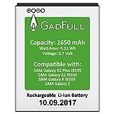 GadFull Akku für Samsung Galaxy S2 | 2017 Baujahr | Wie EBF1A2GBU | Galaxy S2 i9100 | Galaxy S2 Plus i9105 | Galaxy R i9103 | Galaxy Z | Batterie Accu Battery