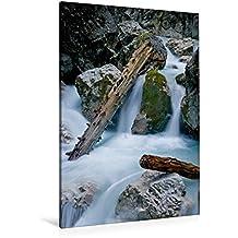 Calvendo Premium Textil-Leinwand 80 cm x 120 cm hoch, Ein Motiv aus Dem Kalender Höllentalklamm | Wandbild, Bild auf Keilrahmen, Fertigbild auf Echter Leinwand, Leinwanddruck Natur Natur