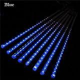 TianranRT 30CM Party LED Beleuchtung Meteor Dusche Regen Schneefall Weihnachten Baum Garten Im Freien (Blau)
