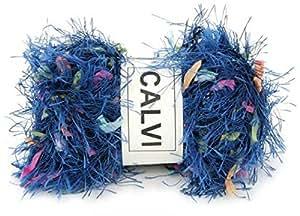 Pelote de laine mignon feutre oke calvi - Bleu Multicolore