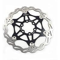 Freno de disco MTB, Bicicleta de Montaña 160mm 180mm 203mm flotante Freno disco rotores compatible con Shimano, Avid, Magura, Hayes, Tektro y muchos más (Negro, 203mm)