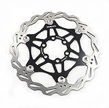 Mountainbike Bremsscheibe 160mm Fahrrad Bremsscheibe, MTB schwimmende Scheibe 6-Loch kompatibel mit Avid, Magura, Hayes, Tektro, Shimano uvm (Schwarz, 160mm)