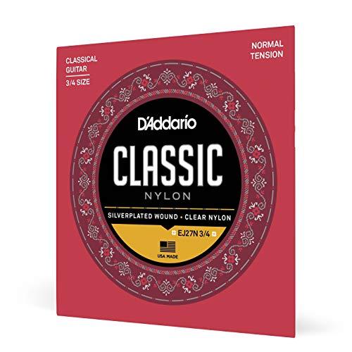 D'Addario EJ27N-3/4 Satz Nylonsaiten für 3/4 Konzertgitarren - Normal Tension