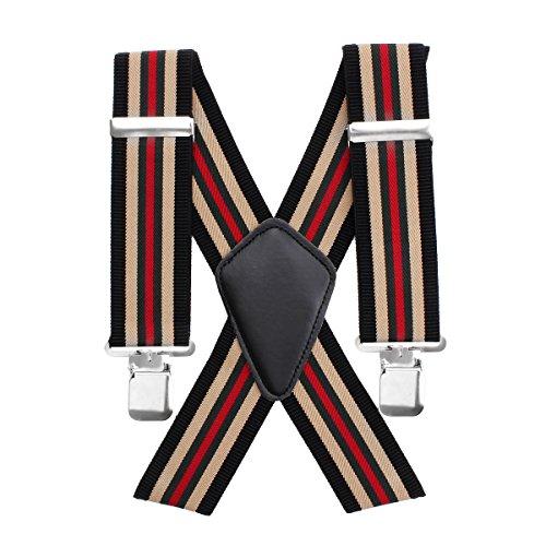 Regolabile Stampa Bretelle Uomo Aulola 50MM Elasticizzato Stile Vintage Bretelle per Uomo X Forma con Clip Metallo