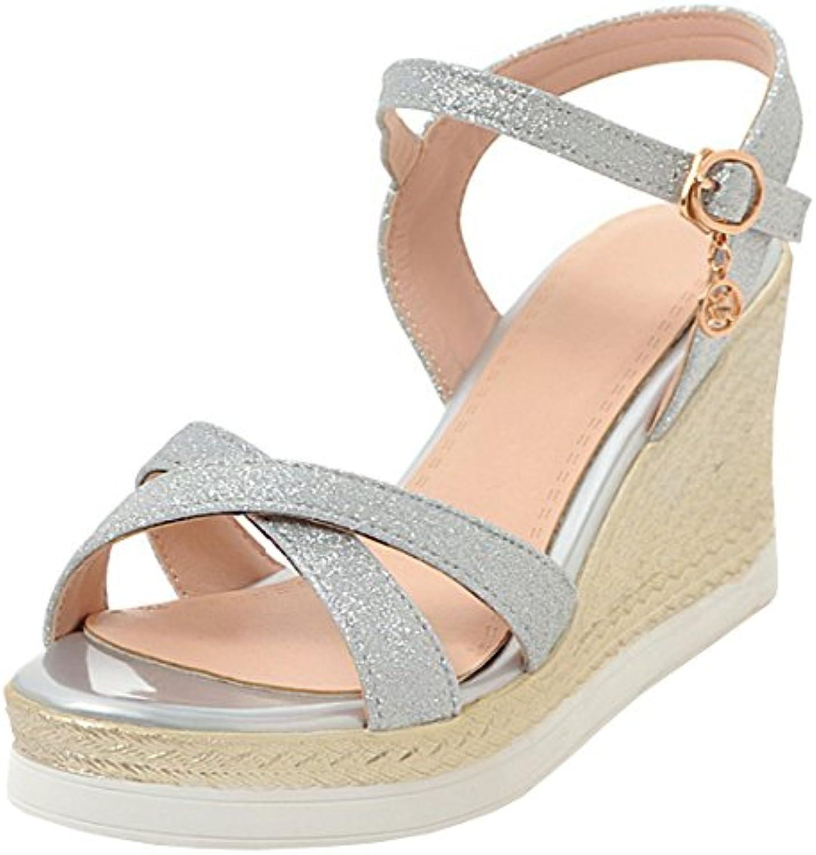 f2e0925aeb2 Artfaerie Shoes Women s Wedge Strap Heel Ankle Strap Court Shoes B07CGM1PKT  Open Toe Glitter Sandals Work Summer Pumps B07CGM1PKT Parent 40c6649