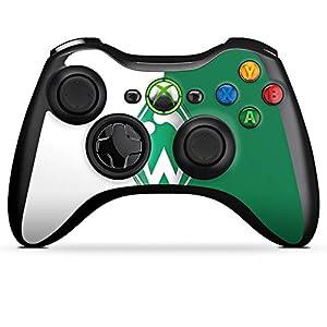 Microsoft Xbox 360 Controller Folie Skin Sticker aus Vinyl-Folie Aufkleber Werder Bremen Fanartikel SV Bundesliga Fußball
