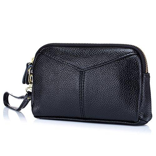 Mefly Europa Und Amerika Einfache Handtasche Explosion Modell Reine Farbe Lederwaren Black