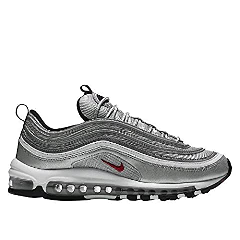 Nike Womens Air Max 97 OG QS 'Silver Bullet La Silver' - Metallic Silver/Vrsty Rd Trainer, Silver,