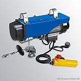 Elektrische Seilwinde PA800 mit automatischer Not-Stopp Funktion bei Seilende, Tragfähigkeit: 400 kg