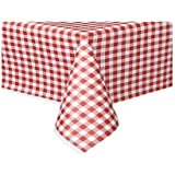 The Tablecloth Shop Lot de 25 nappes en papier Vichy rouge