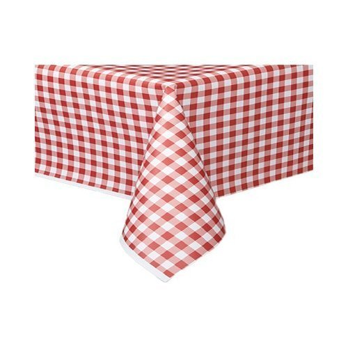 THE TABLECLOTH SHOP Red Gingham Paper Table Covers x 25 by Dispo