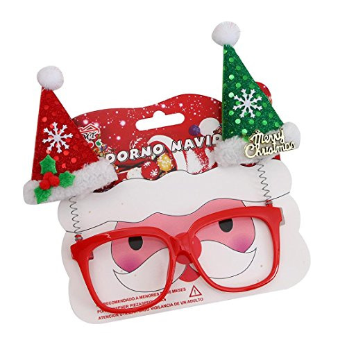 bescita Weihnachten Glasrahmen Weihnachten Dekoration Neuheit Kostüm Santa Schneemann Weihnachten Dekor (B)