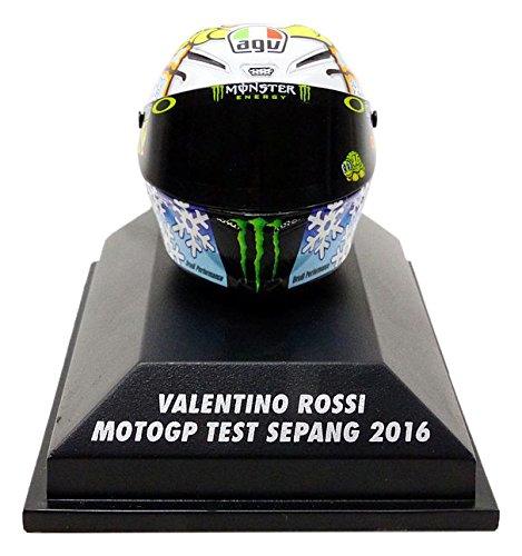 Minichamps Casco Moto GP Test Sepang 2016V. Rossi AGV veicolo in miniatura, 398160076, scala 1/8