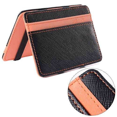 XCSOURCE Portafoglio Magico in Simili Cuoio - Magic Wallet Credit Card  Holder - Porta Moneta -Arancione 3cfbc88e35ec