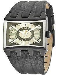 Police R1451106003 - Reloj con correa de caucho para hombre, color dorado / gris