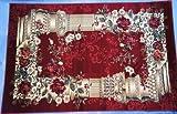 Karatcarpet Klassischer Teppich Kurzflor Kollektion Lotos 532/210 Rot (250x350 cm)