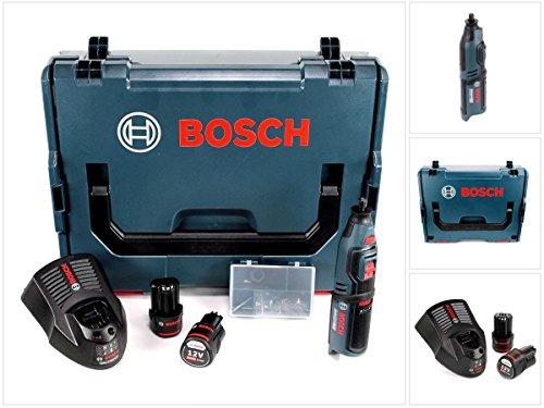 Bosch GRO 12V-35 Professional Akku Rotationswerkzeug mit 2x GBA 12V 2,5 Ah Akku und GAL 1230 Ladegerät in L-Boxx