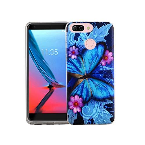 König Design Handy-Hülle geeignet für ZTE Blade V9 Vita Schmetterling Blau Case Cover Bumper