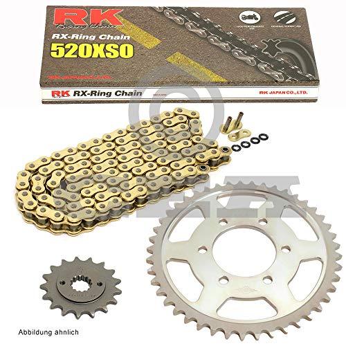 Kettensatz geeignet für Polaris Trail Boss 2x4 325 01-02 Kette RK GB 520 XSO 78 offen GOLD 11/40
