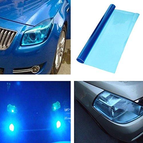 2 PCS Scheinwerfer Folie Tönungsfolie Aufkleber 120cm x 30cm für Auto Scheinwerfer Rückleuchten Blinker Nebelscheinwerfer (Blau)