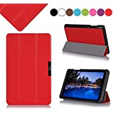 Acer Iconia B1-720 7-inch Case Cover, Fyy Ultra Slim Magnetic Smart Cover Case for Acer Iconia B1-720 7-inch Red