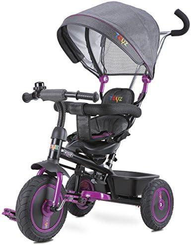 Caretero Toyz Buzz trois Roue enfants de Tricycle véhicule de trois de véhicule Tricycle Tige avec tiroir amovible pour vélo, spacieux Jouet Panier et soleil toit 1a28f5