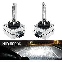 Piar 35W D1S D1R HID Xenon Headlight Bulbs Lights Lamps 66140 66144 - 6000K Diamond White
