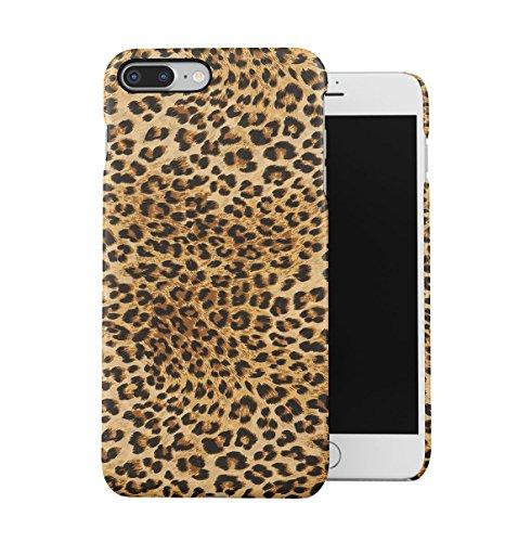 Leopard Fur Pattern Dünne Handy Schutzhülle Hardcase Aus Hartplastik Hülle Kompatibel mit iPhone 7 Plus/iPhone 8 Plus Handyhülle Case Cover - Plus Leopard