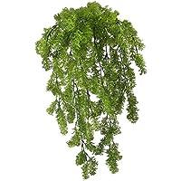 Falsas plantas colgantes HUAESIN 2PCS hierba de musgo de reno falso plástico falso colgante hoja verde planta UV para la oficina en el hogar pared de la habitación exterior terrarios de balcón patio