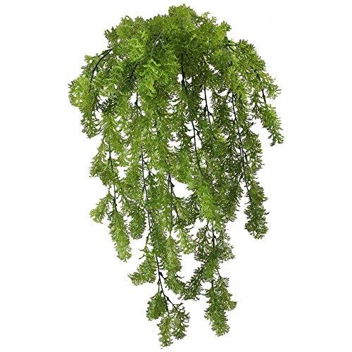 MIHOUNION 2 Pcs Moos Künstlich Plastikpflanzen Hängend Grüne Pflanzen Künstliche Unechte Pflanzen für Terrarium Balkon Garten Deko