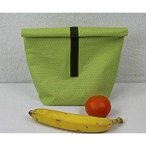 Lunchbag beschichtete Baumwolle Frühlingsfarben individualisierbar