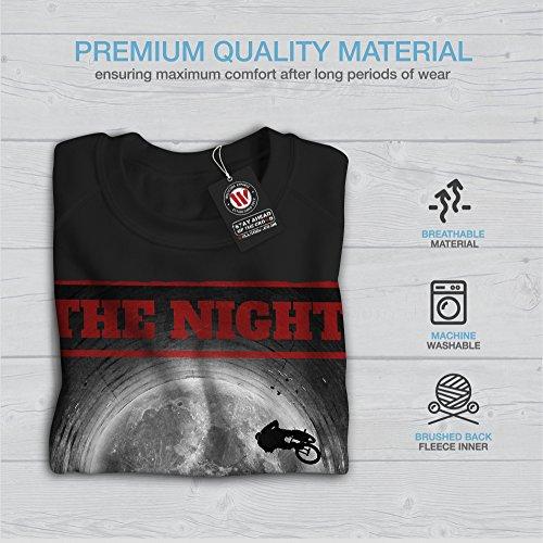 Nuit BMX Lune Mode Femme S-2XL Sweat-shirt | Wellcoda Noir