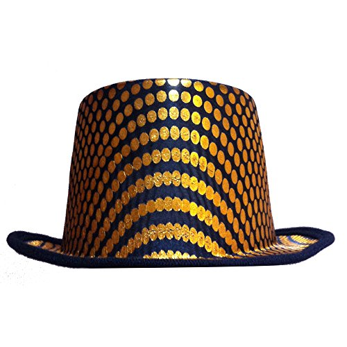 Dress up america cappello a cilindro quadrato oro per adulto