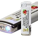 Elektronik-Feuerzeug U-886 mit LED inklusive Druck 4-farbig / Fotodruck 50 Stück einseitig bedruckt