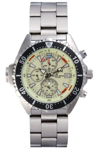 Chris Benz Depthmeter Chronograph CB-C-NEON-MB Men's watch Depth Gauge